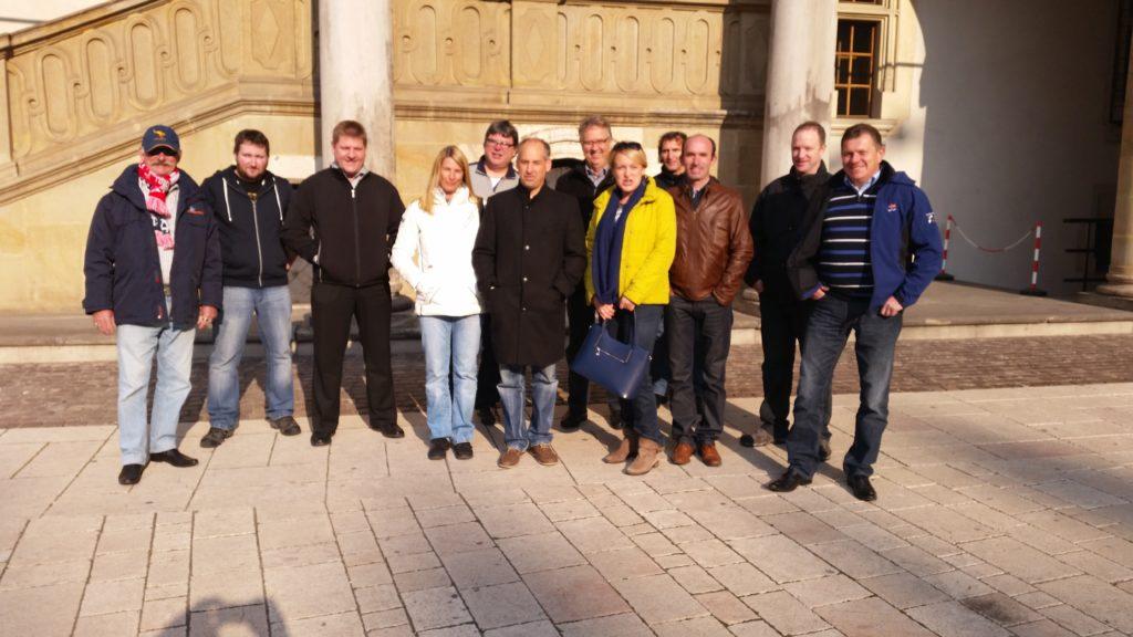 Stadtführung Krakau Wawel Schloss Gruppenfoto